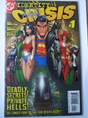 Identity Crisis #1 Dynamic Forces Signed Michael Turner DF COA Ltd 999 DC comic book